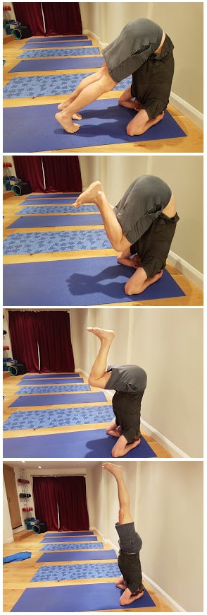 Beyond the comfort zone: Try a headstand